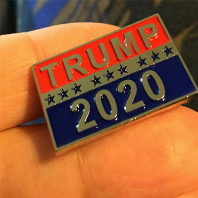 Creative Donald Trump For President 2020 Republican Metal Brooch Pin Gifts