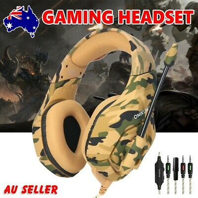 ONIKUMA 3.5mm Stereo Mic Gaming Headset Headphone for Laptop PC PS4 Xbox One YW