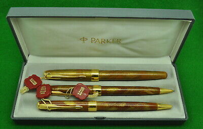 Stock Clearout 1998 PARKER SONNET ROLLERBALL in CHINESE RED LAQUE