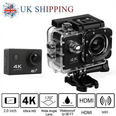 Ultra 4K Full HD 1080P Sports Camera Video Recorder WiFi Cam DV Action Camcorder