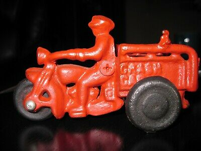 "Vintage Toy REPRODUCTION Hubley ""STYLE"" Cast Iron Motorcycle Crash Car-70's/80's"