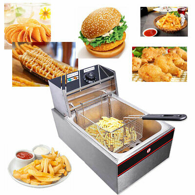 Hot 20L Electric Commercial Deep Fryer Fat Fry Chip Countertop Stainless Steel