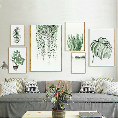 Art Prints Canvas Poster Tropical Plant Leaf Modern Wall Home Decor Unframed