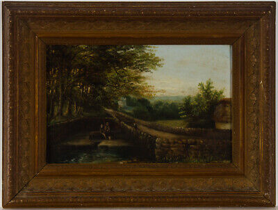 Wallis - Fine Late 19th Century Oil, Over the Wall
