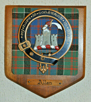 Allan Sept of Clan Macdonald of Clanranald clan plaque shield crest scottish