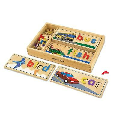 Melissa & Doug See Spell Wooden Educational Toy With 8 Double-Sided Spelling