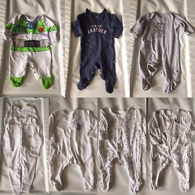 Newborn Baby Boy Bundle Of Babygrows Sleepsuits Mothercare Next Mama And Papas