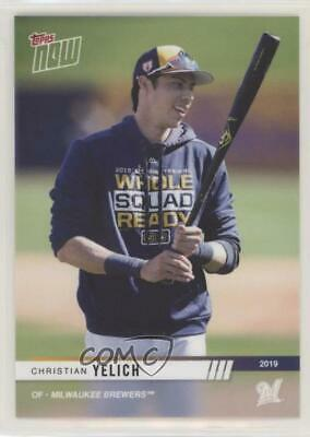 2019 Topps Now Opening Day #OD-336 Christian Yelich Milwaukee Brewers Card