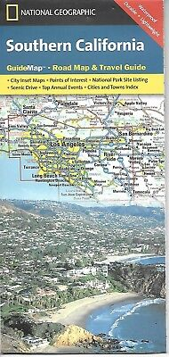 National Geographic Map of Southern California GuideMap, South, Sud, Los Angeles