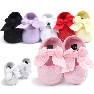 KQ_ Baby Newborn Toddler Girl Crib Shoes Pram Soft Sole Prewalker Anti-slip Snea