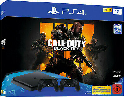 SONY PlayStation 4 PS4  1 TB + CoD Black Ops 4 USK18 + 2 Controller B-WARE
