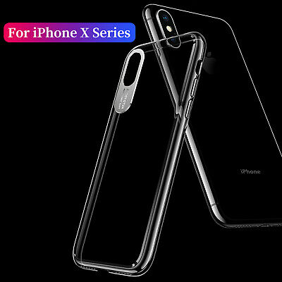 For Apple iPhone XS Max Case XR X Crystal Hard PC Plastic Clear Shockproof Cover