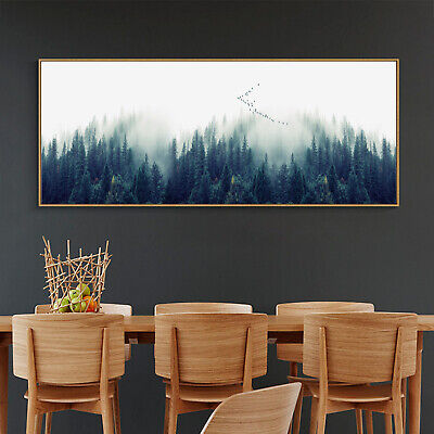 Nordic Art Abstract Forest Paint Canvas Poster Modern Wall Decor Unframed A709