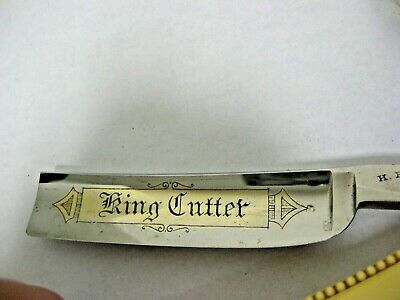 ANTIQUE HENRI BOKER Straight Razor KING KUTTER GERMANY STRAIGHT RAZOR 1907-1915