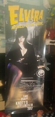 Rare Elvira 6 Foot Poster FINAL SHOW Knotts Scary Farm 2017 Mistress of the Dark