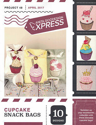 Anita Goodesign Express - Cupcake Snack Bags Project 48 CD and booklet