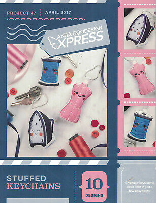 Anita Goodesign Express Stuffed Keychains Project 47 book and CD SALE
