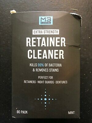 M3 Dental Retainer and Denture Cleaner Tablets Anti Bacterial Removes...