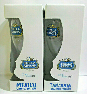 Stella Artois Better World 2019 Limited Edition Mexico & Tanzania Chalice, 33cl