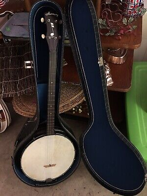 VINTAGE 4 STRING Tenor Banjo Open Back Maple Quality Possibly a