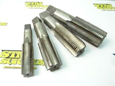 """4 Assorted Hss Taps 1""""-8 To 1-5/8""""-8 Cleveland Gtd Usa"""
