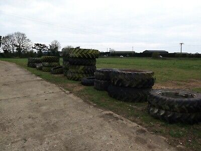 Large old Tractor Tyres.
