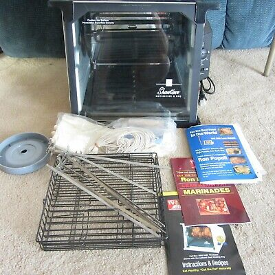 NEW Ronco Showtime 4000 Full Size Rotisserie & BBQ Oven Chrome Silver