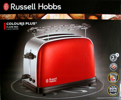 Russell Hobbs 23330-56 Couleurs Plus + Flamme Rouge Grille-Pain