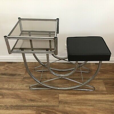 Art Deco telephone table / stand