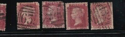 plate-162 SG43 Penny Red GB Victorian postage stamp