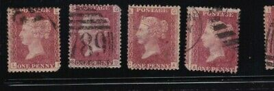 plate-161 SG43 Penny Red GB Victorian postage stamp