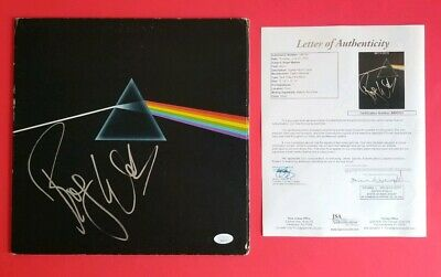 """ROGER WATERS SIGNED PINK FLOYD """"DARK SIDE OF THE MOON"""" LP ALBUM WITH JSA COA psa"""