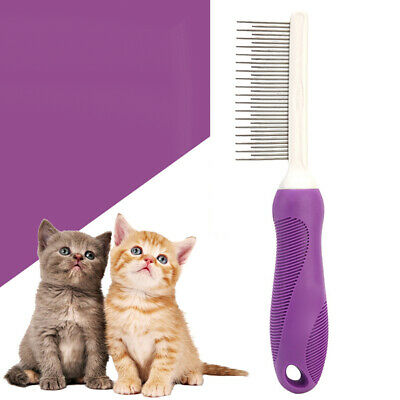 KQ_ Dog Cat Shedding Hair Pin Brush Fur Grooming Trimmer Comb Pet Cleaning Tool