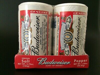 Budweiser Promotional Salt And Pepper Shakers From Usa Trade Show X 2 Sets