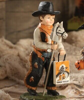 Bethany Lowe Halloween Cowboy Boy Figure Trick or Treater Child
