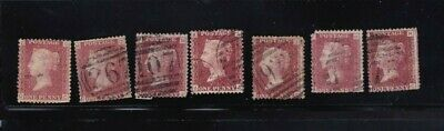plate-189 SG43 Penny Red GB Victorian postage stamp