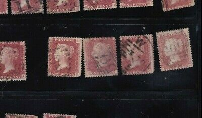 plate-193 SG43 Penny Red GB Victorian postage stamp