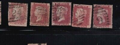 plate-202 SG43 Penny Red GB Victorian postage stamp