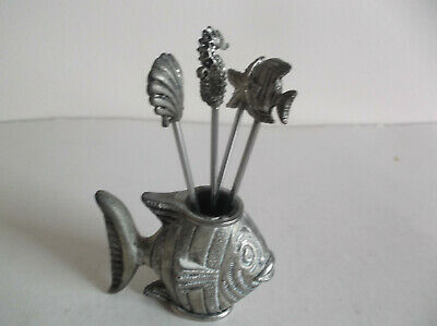 Fish Forks In Pewter Fish