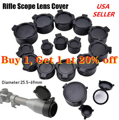 Brand Rifle Scope Cover Flip Up Quick Spring Cap Open Objective Lens Eyes 1pc