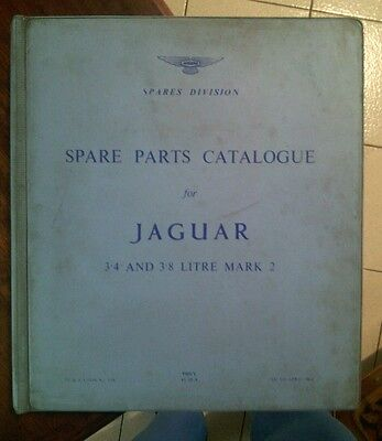 Jaguar Mk 2 3.4 & 3.8 Manuale Catalogo Ricambi Spare Parts Catalogue J34 Origina