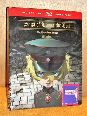 Saga of Tanya The Evil The Complete Series (Blu-ray/DVD, 2018, 4-Disc) NEW anime