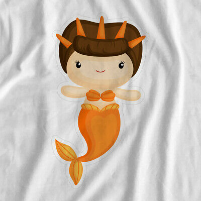Mermaid Adventure | Orange Mermaid | Iron On T-Shirt Transfer Print