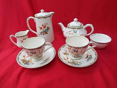 WEDGWOOD  Tea For Two with Tea Pot Hot Water Jug, Jug & Bowl 2 Cups JAPONICA