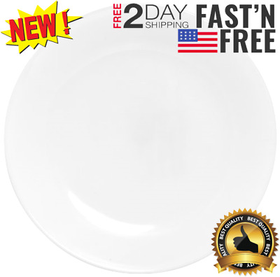 "Corelle Winter Frost 6-Pack Lunch Plates, White 8.5"" / 21.6cm"