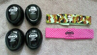 EMS for Kids Baby Ear Defenders Newborn to 18 Month x2 twins army dots girl/boy