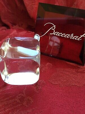 FLAWLESS Exquisite BACCARAT France Art Glass Crystal CUBE Figurine Paperweight