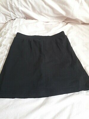 GIRLS PE SKIRT Black With Shorts Attached Age 12 Years By TU