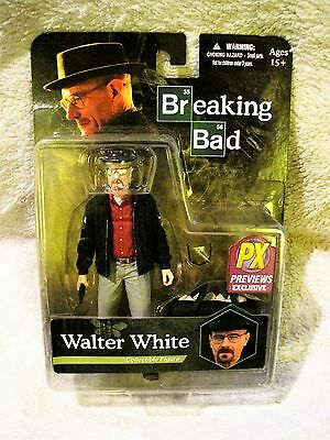 """Amc Breaking Bad - Walter White 6"""" Px Preview Exclusive Meth Action Figure Mezco"""
