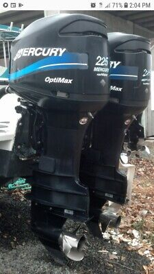 2001 TWIN (2) 225 mercury optimax outboards